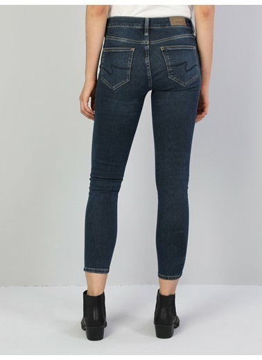 Colin's Colin'S 759 Lara Orta Bel Dar Paça Super Slim Fit Koyu Kadın Jean Pantolon Renkli